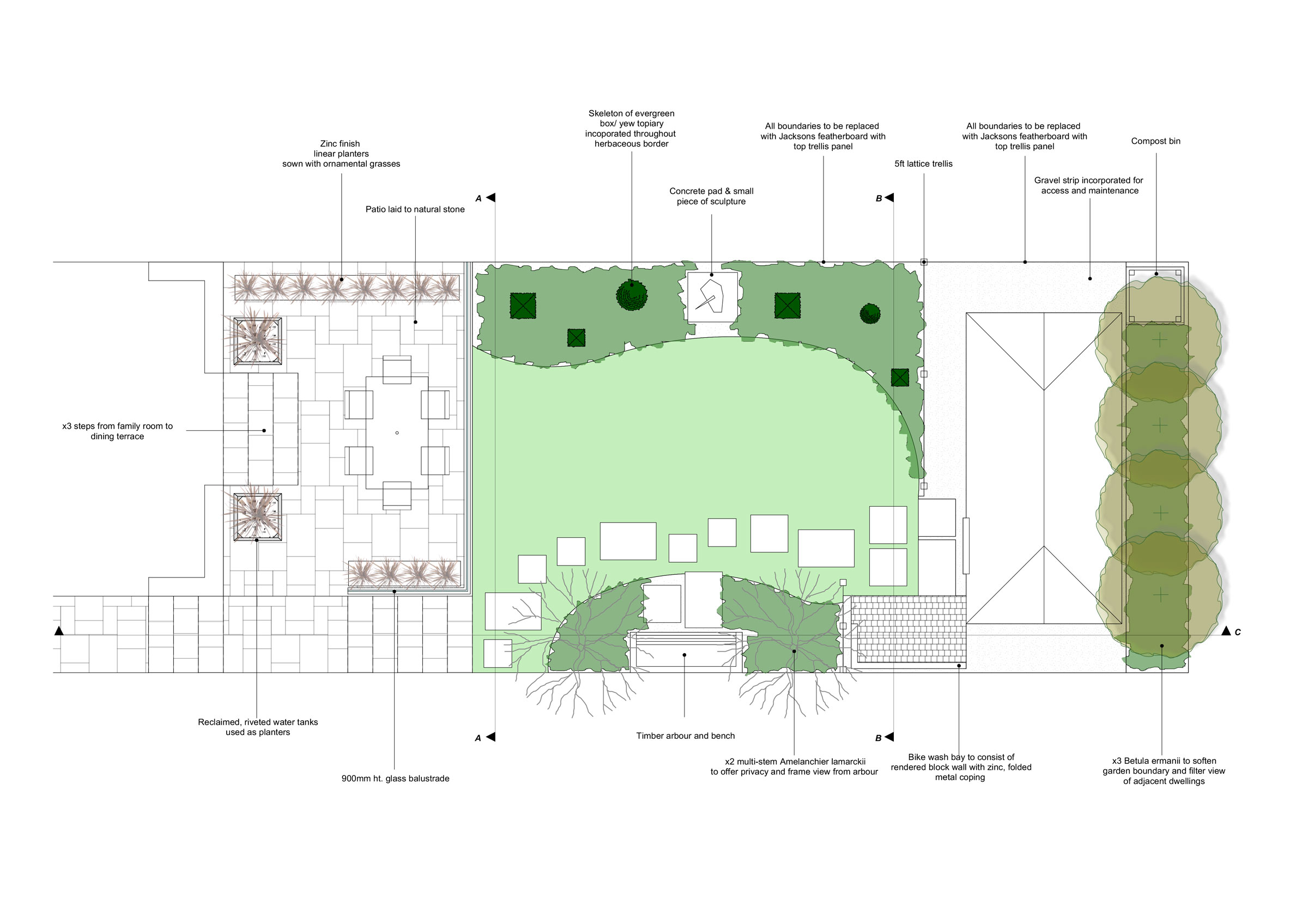 LBLA - Landscape Garden Design Kingston London For Our Client